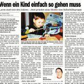 Im November 2003 fand Astrid Bechter-Boss den Mut, von ihrem verstorbenen Sohn Aaron zu erzählen.