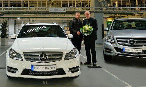 In Bremen lief diese Woche das einmillionste Fahrzeug der aktuellen  C-Klasse-Familie vom Band. Foto: werk