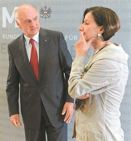 Innenministerin Mikl-Leitner und Landeshauptmann Pröll. Foto: APA