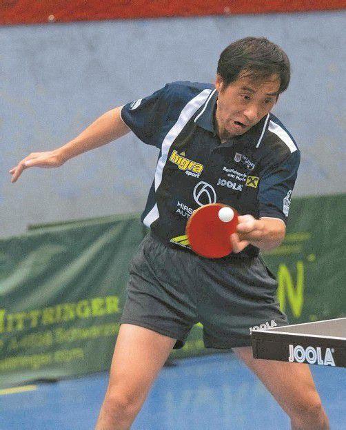 Kennelbachs Zhenhua Jin hält bei 13:2 Siegen. Foto: paulitsch