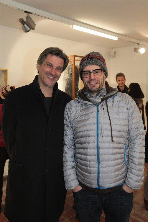Kunstbeflissen: Arno Egger (l.) und Mediziner Thomas Marte.