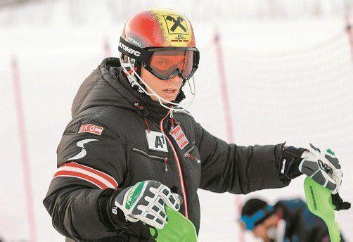 Marcel Hirscher wäre im Levi-Slalom mit einem Top-Ten-Platz zufrieden. Foto: gepa