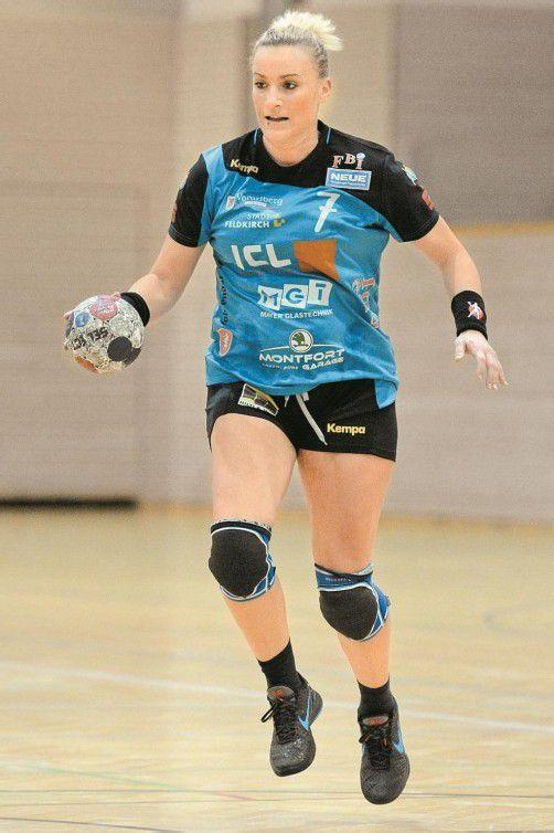Martina Strmsek erzielte 13 Treffer. Foto: VN/Lerch