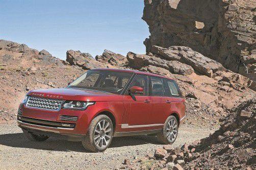 Meistert mit Eleganz Asphalt, Felsen, Sand und Schlamm: Der neue Range Rover kann alles noch besser. Fotos: werk