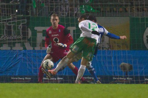 Mit seinem zwölften Saisontreffer, seinem ersten Tor seit gut einem Monat, schoss Thiago De Lima Silva die Austria praktisch zur Herbstmeisterschaft. Fotos: Hartinger/Steurer