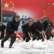 Wintereinbruch in China: Schneestürme befürchtet