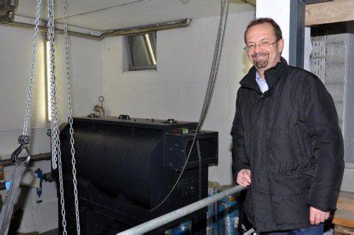 Nach 18 Jahren wird die Biomasse-Anlage im Ender-Saal in Mäder um 500.000 Euro saniert. Foto: hbr