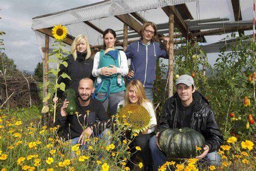 """Niko Paech wirbt für Gemeinschaftsgärten wie den """"Garten unser"""", den die VN Anfang Oktober 2012 porträtierten. In Sulz bewirtschaften 15 Hobby-Biobauern gemeinsam ein Feld. Foto: VN/Paulitsch"""