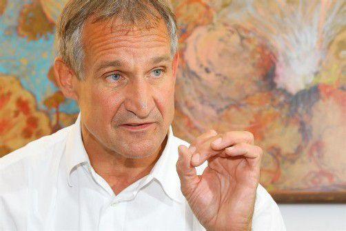 Null Euro neue Schulden? Das geht sich auch heuer in Bregenz nicht aus, erklärt Bürgermeister Markus Linhart. Foto: VN/Hofmeister