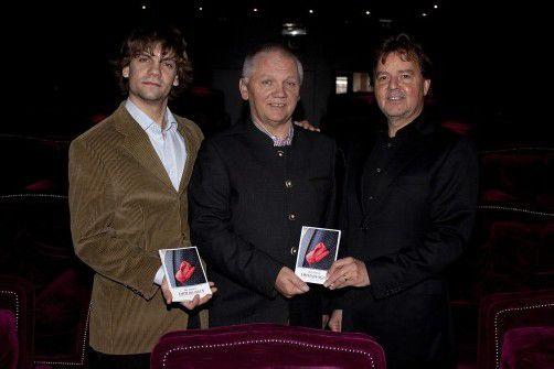 Organisatoren und Verleger: Christian und Michael Ortner (l.) mit Günter Bucher. Fotos: Franc