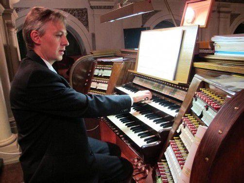 Organist Matthias Giesen bewies in Dornbirn höchste Virtuosität und überragende Gestaltungskraft. Foto: F. Jurmann
