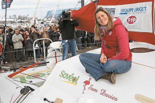 Sam Davies ist die einzige Frau bei der Vendee Globe. Foto: ap