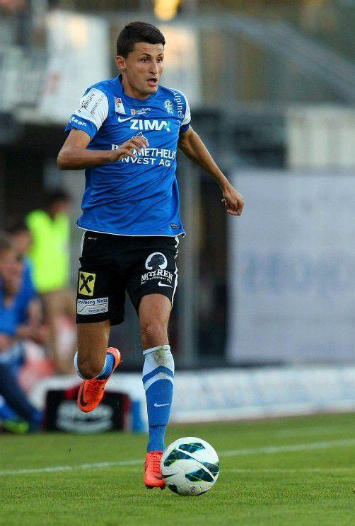 Schlaksig, sehr schnell und technisch versiert: Arvedin Terzic ist für den FC Lustenau bislang ein Glücksgriff. Foto: steurer