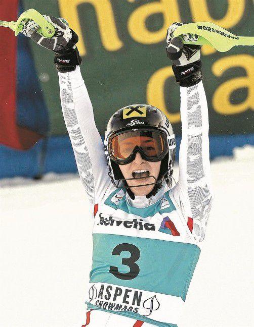 Sieg im Slalom und Platz zwei im Riesentorlauf – Kathrin Zettel lief bei den Weltcuprennen in Aspen zu großer Form auf. Foto: apa