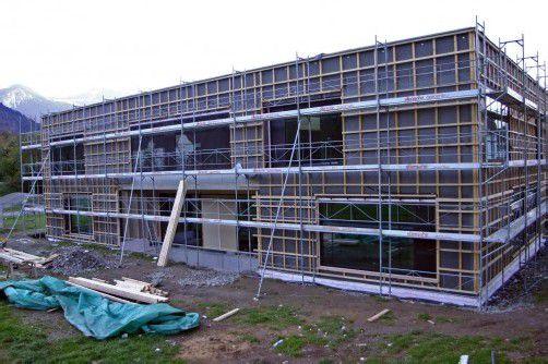 Soll im Rohbau bis Ende November fertiggestellt sein: der Bludenzer Susi-Weigel-Kindergarten um 2,8 Millionen Euro. Foto: SChwald