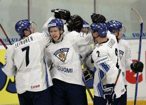 Tommi Leinonen (l.) spielte in allen finnischen Nachwuchs-Nationalteams. Foto: AP