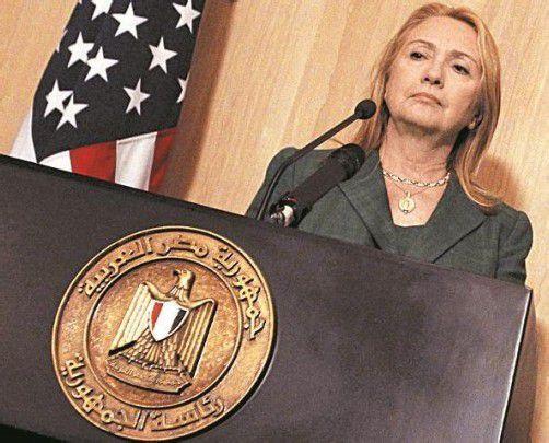 US-Außenministerin Clinton in Kairo. Foto: Reuters