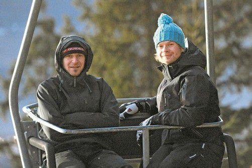 Vorarlberger Skisprungexperten unter sich: Karlheinz Dorner (rechts) und Gerhard Schallert. Foto: gepa