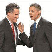 US-Präsidentenwahl Obama und Romney zittern /A2, 3