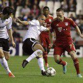 Ribéry und Co. im Achtelfinale Bayern reichte ein 1:1 in Valencia /C1