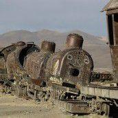 Friedhof für Lokomotiven im Süden von La Paz