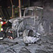 Traktor geriet in Brand