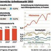 AMS rechnet für 2013 mit höherer Arbeitslosenquote