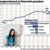 Österreicher sparten 2011 Energie