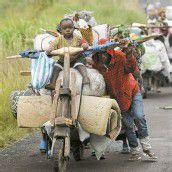 Flucht vor den Rebellen im Kongo