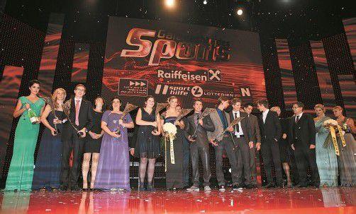 """Österreichs beste Sportler dieses Jahres wurden bei der """"Nacht des Sports"""" in Vösendorf ausgezeichnet. Foto: gepa/sporthilfe"""