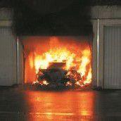 Auto brannte lichterloh