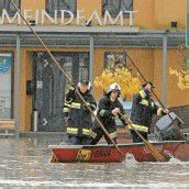 Jahrhunderthochwasser in Kärnten: Lavamünd überflutet