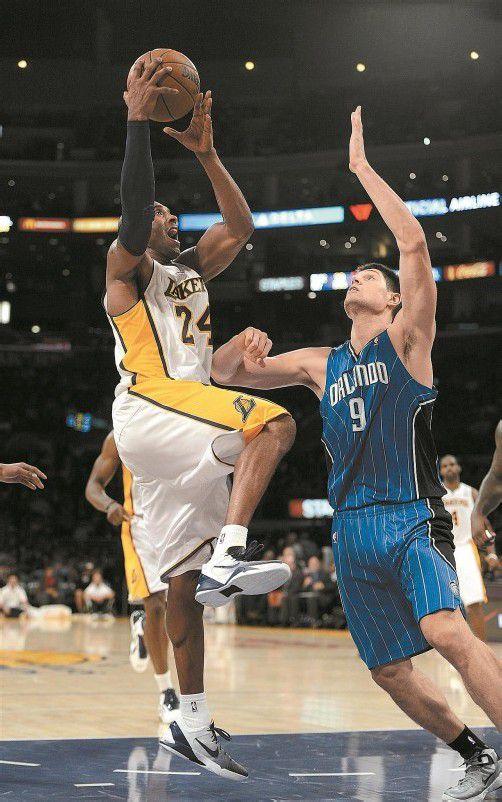 34 Punkte, trotzdem gegen Orlando verloren: Kobe Bryant. Foto: apa