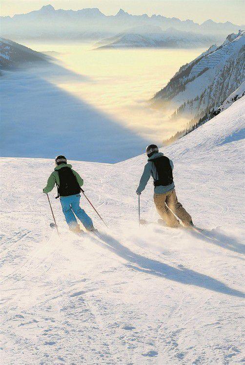 80 Prozent der Gäste kommen wegen des Skifahrens nach Vorarlberg auf Urlaub. Im Land finden sie zahlreiche, attraktive Skigebiete. Foto: J. Mallat