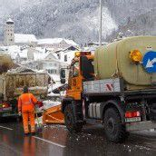Hochbetrieb bei Bludenzer Schneeräumkommandos