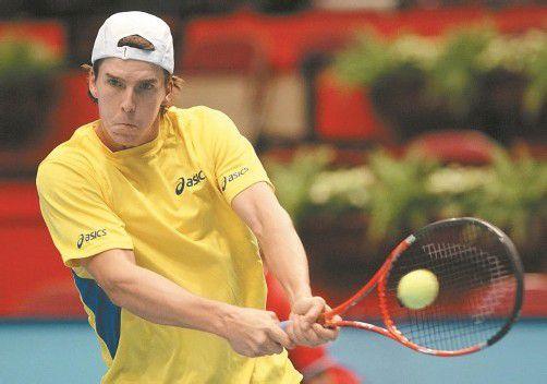 Als VN-Abonnent Martin Fischer & Co. beim ATP Campus Cup in der Messehalle Dornbirn zum Vorteilspreis live erleben. Foto: APA