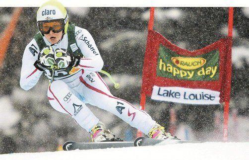 Anna Fenninger kam bei den Überseerennen immer besser in Schwung – in Lake Louise gab es Platz drei im Super-G. Foto: ap
