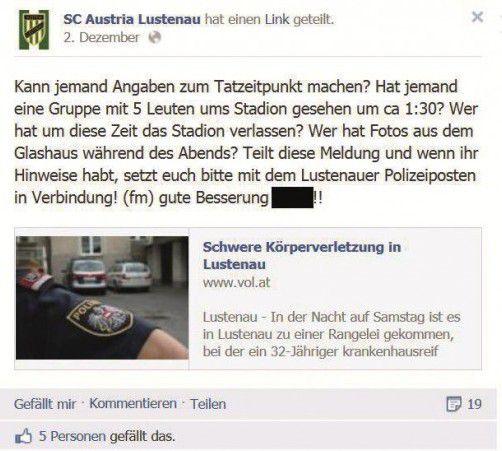 Bei den Ermittlungen setzte der Hobbydetektiv auch auf Facebook.