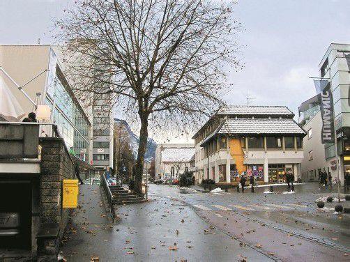 Das ehemalige PSK-Gebäude (r.) weicht nächstes Jahr einem neuen Geschäftshaus. Foto: VN/Hagen