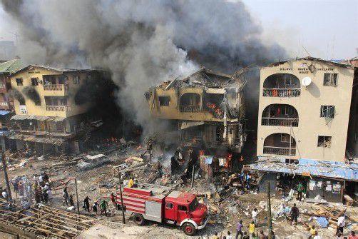 Der Grund für die Explosion ist bislang unklar. Foto: AP