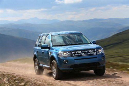 Der Land Rover Freelander 2 fährt aufgefrischt und unverändert allwegetüchtig ins Modelljahr 2013. Foto: Werk