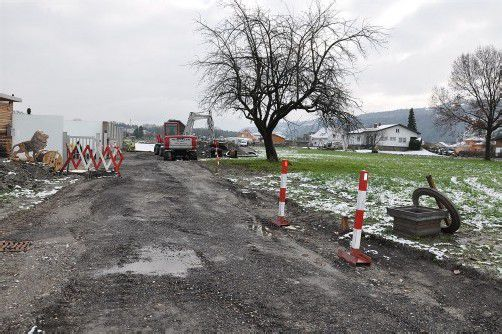 Der Radweg in Gaißau soll heuer noch so weit wie möglich fertiggestellt werden. Foto: rew