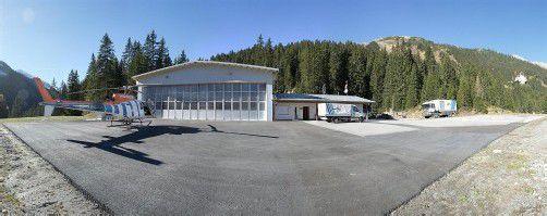 Der neue Heliport wurde nun offiziell eröffnet. Neben St.Anton hat Wucher noch vier weitere Standorte. Foto: Wucher