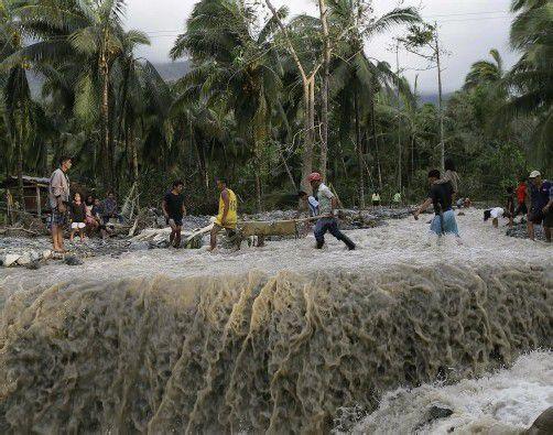 Die Philippinen werden jedes Jahr von rund zwanzig Taifunen heimgesucht. Foto: AP