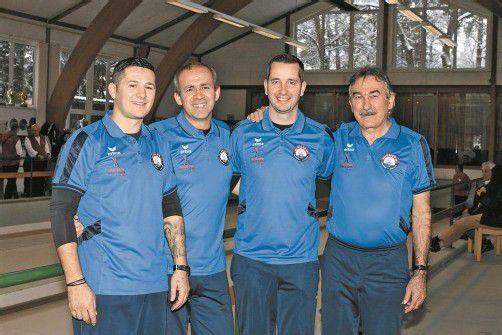 Die vier Akteure des BC Galeb Lustenau: Romeo Bukvic, Enrico Matic, Niki Herceg und Ivica Vundak (v. l.). Foto: schwämmle