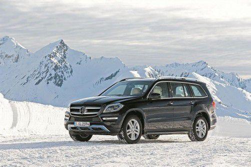 Ein Statement für Luxus im Schnee: die neue GL-Klasse, die seit November im Handel ist. Fotos: werk