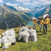 66.000 Sack Müll in den Alpen zusammengeklaubt