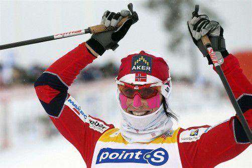 Feierte in Kuusamo ihren dritten Saisonsieg: Marit Björgen. Foto: epa