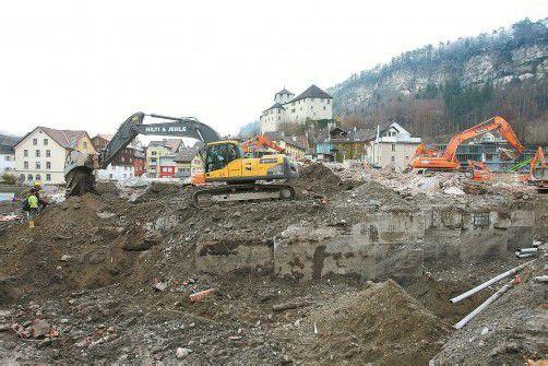 Freie Sicht auf die Schattenburg: Das Feldkircher Montforthaus ist von der Bildfläche verschwunden. Foto: VN/Hb