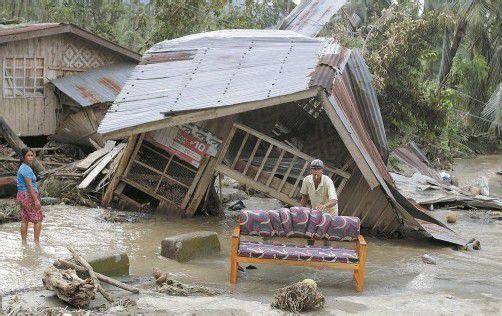 Große Zerstörungen nach dem Taifun auf den Philippinen. Foto: REUTERS